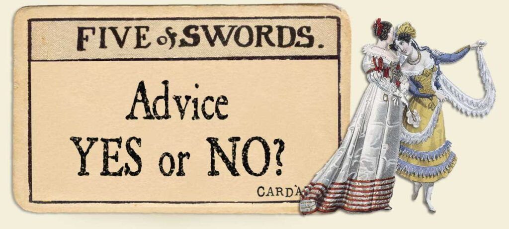 5 of swords Advice Yes or No
