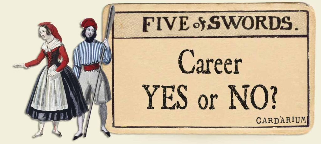 5 of swords career yes or no