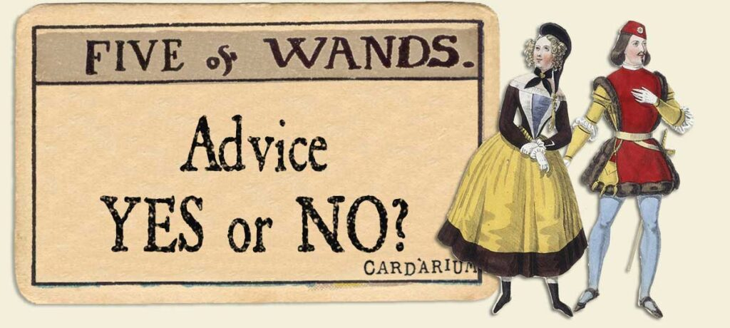 5 of wands Advice Yes or No
