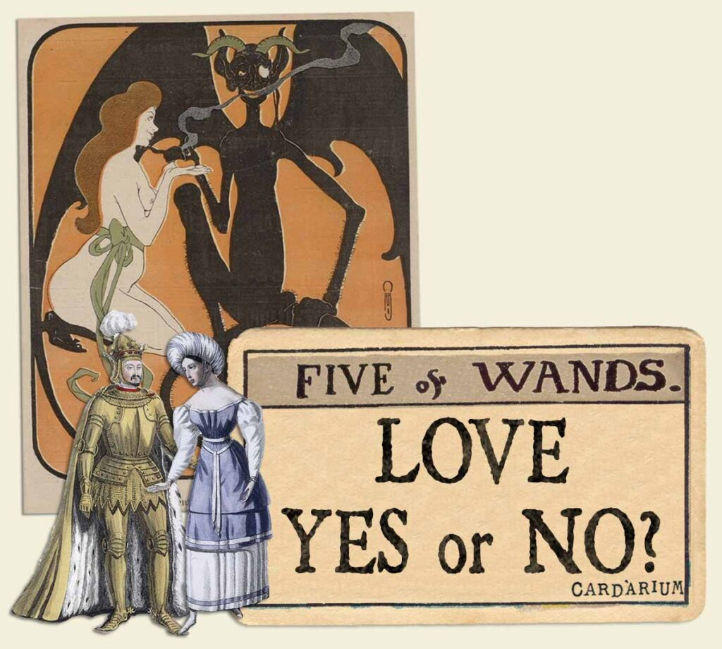 5 of wands tarot card meaning for love yes or no