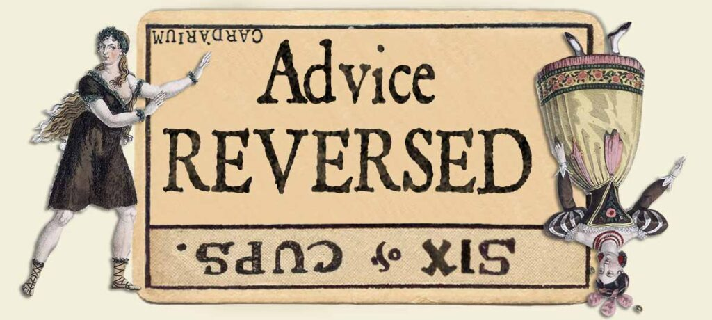 6 of cups reversed advice yes or no