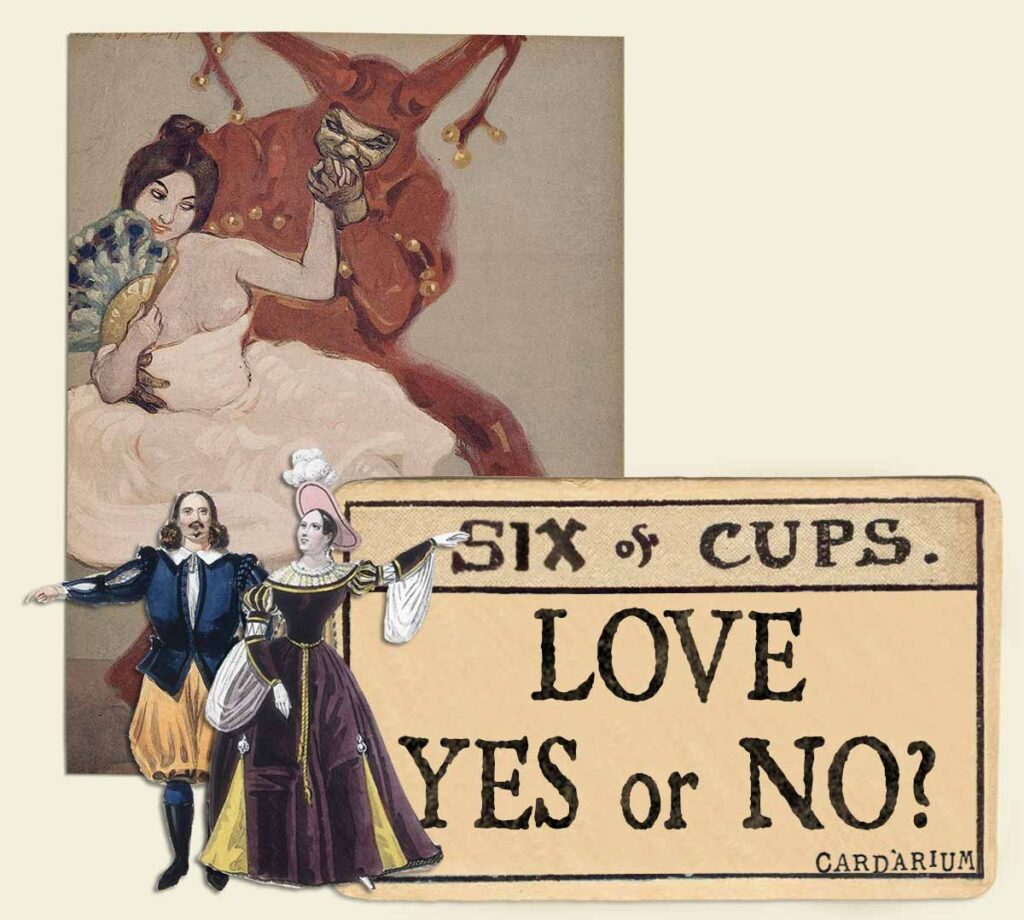 6 of cups tarot card meaning for love yes or no