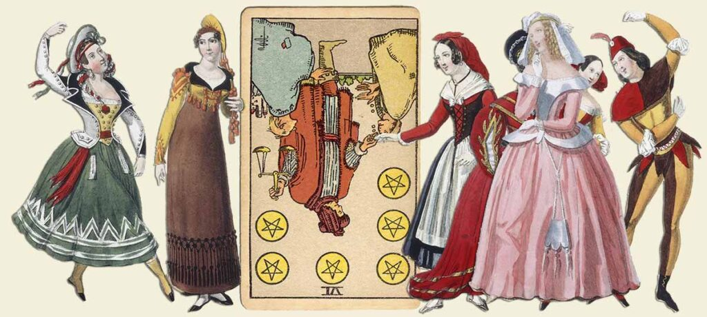 6 of pentacles reversed tarot card meaning yes or no