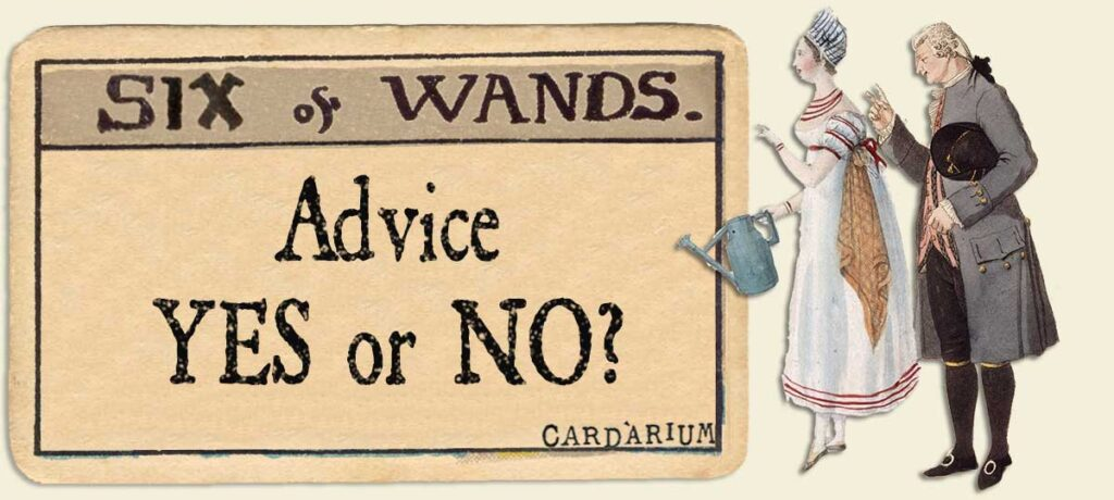 6 of wands Advice Yes or No