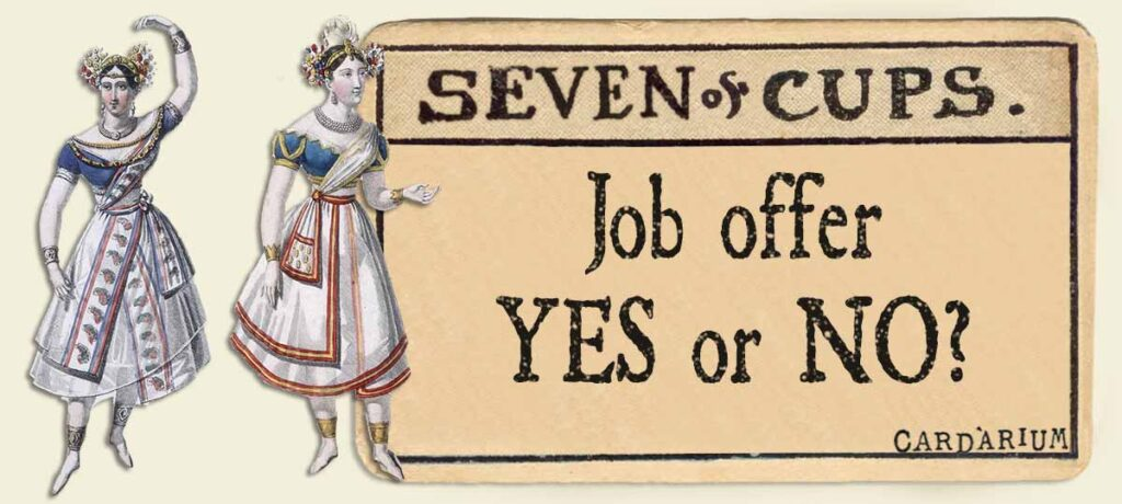 7 of cups job offer yes or no