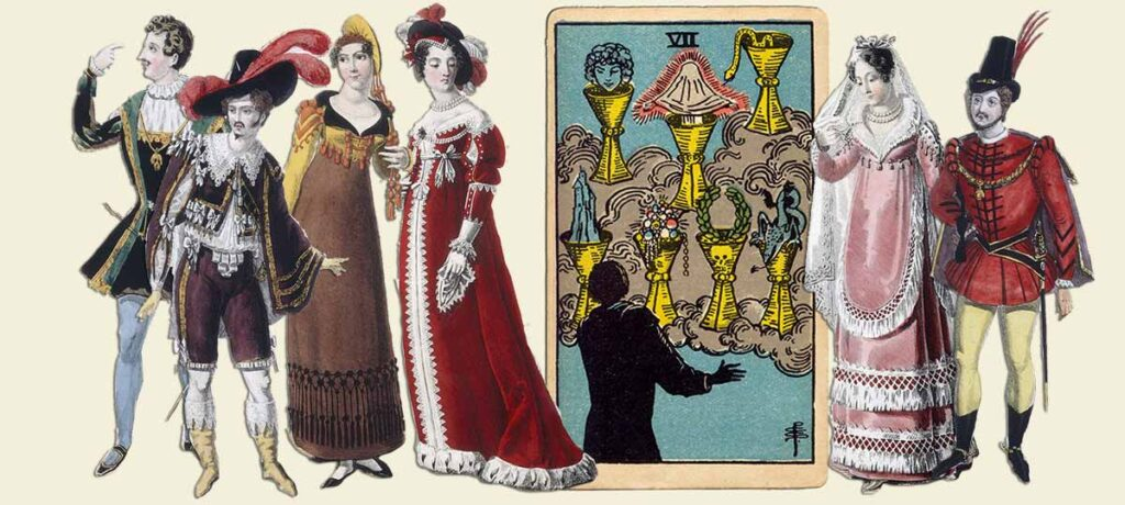 7 of cups tarot card meaning yes or no