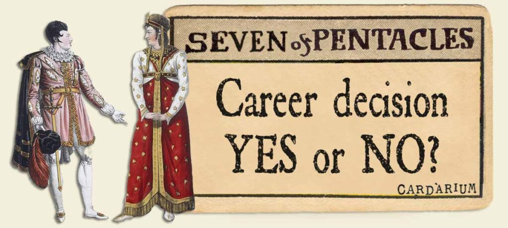 7 of pentacles career decsion yes or no