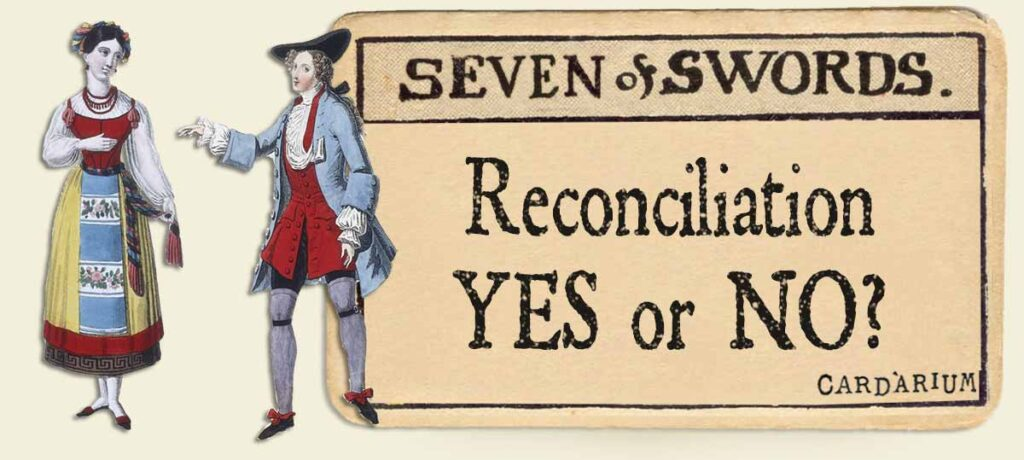 7 of swords reconciliation yes or no
