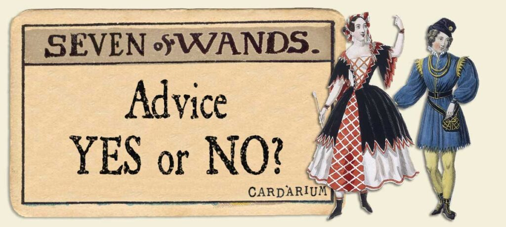 7 of wands Advice Yes or No