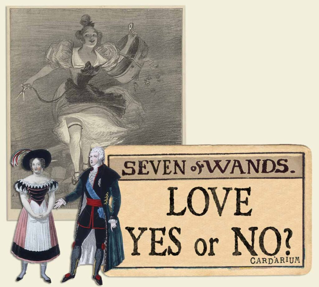 7 of wands tarot card meaning for love yes or no