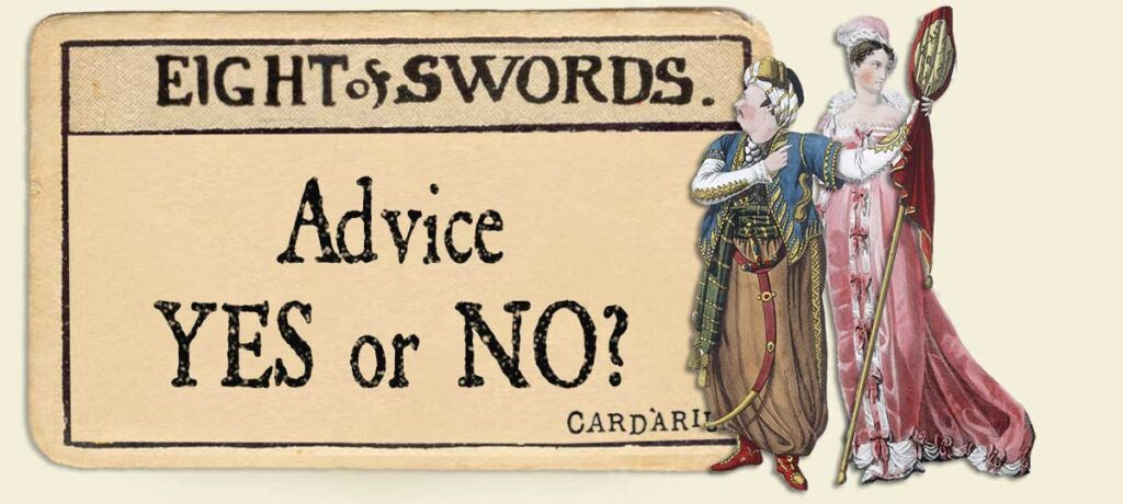 8 of swords Advice Yes or No