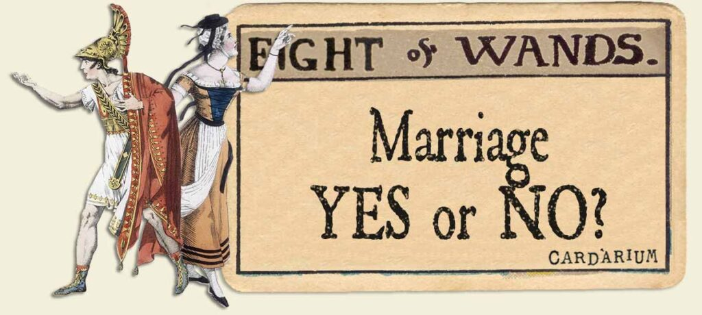 8 of wands marriage yes or no