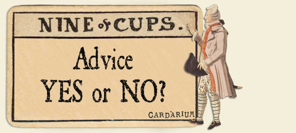 9 of cups Advice Yes or No