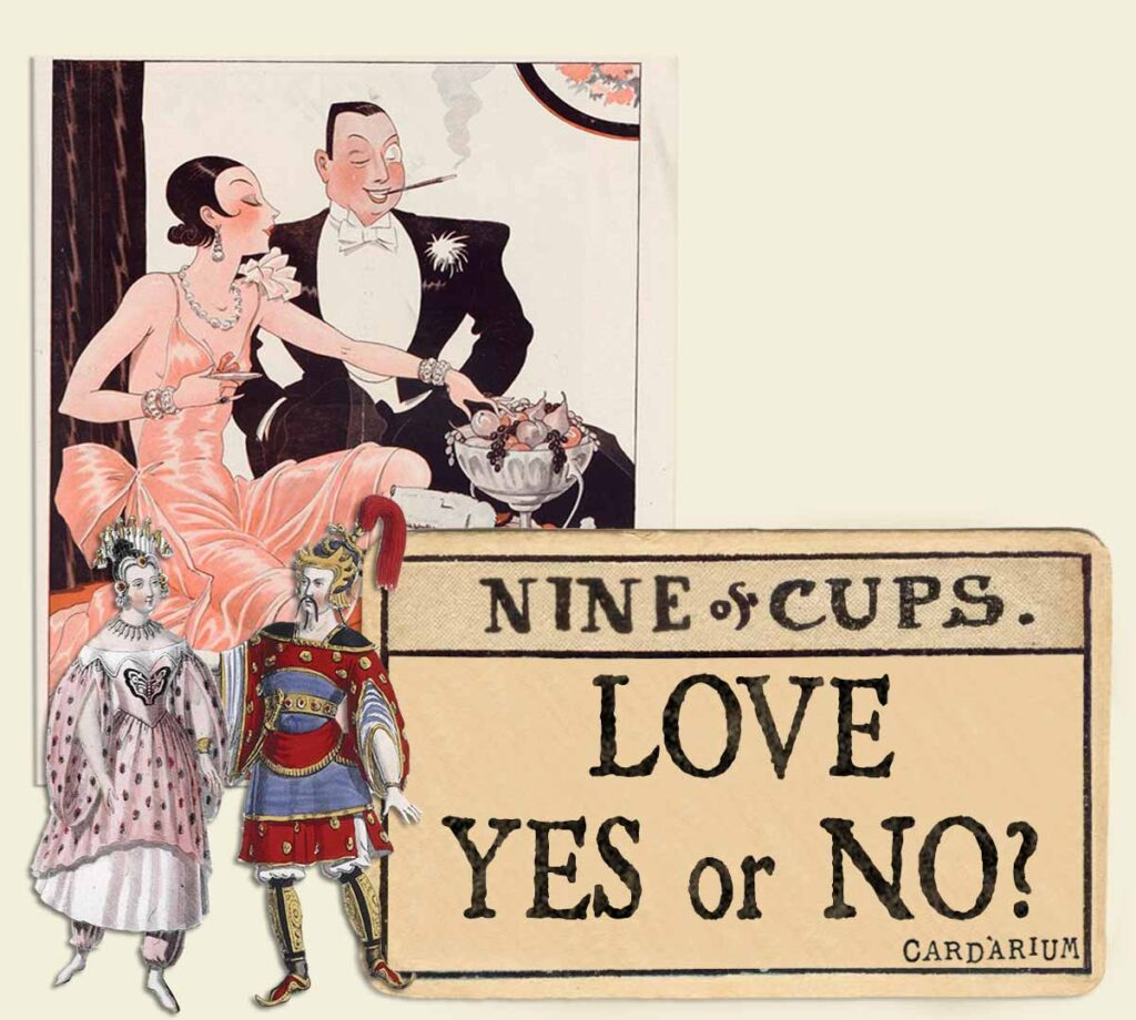 9 of cups tarot card meaning for love yes or no