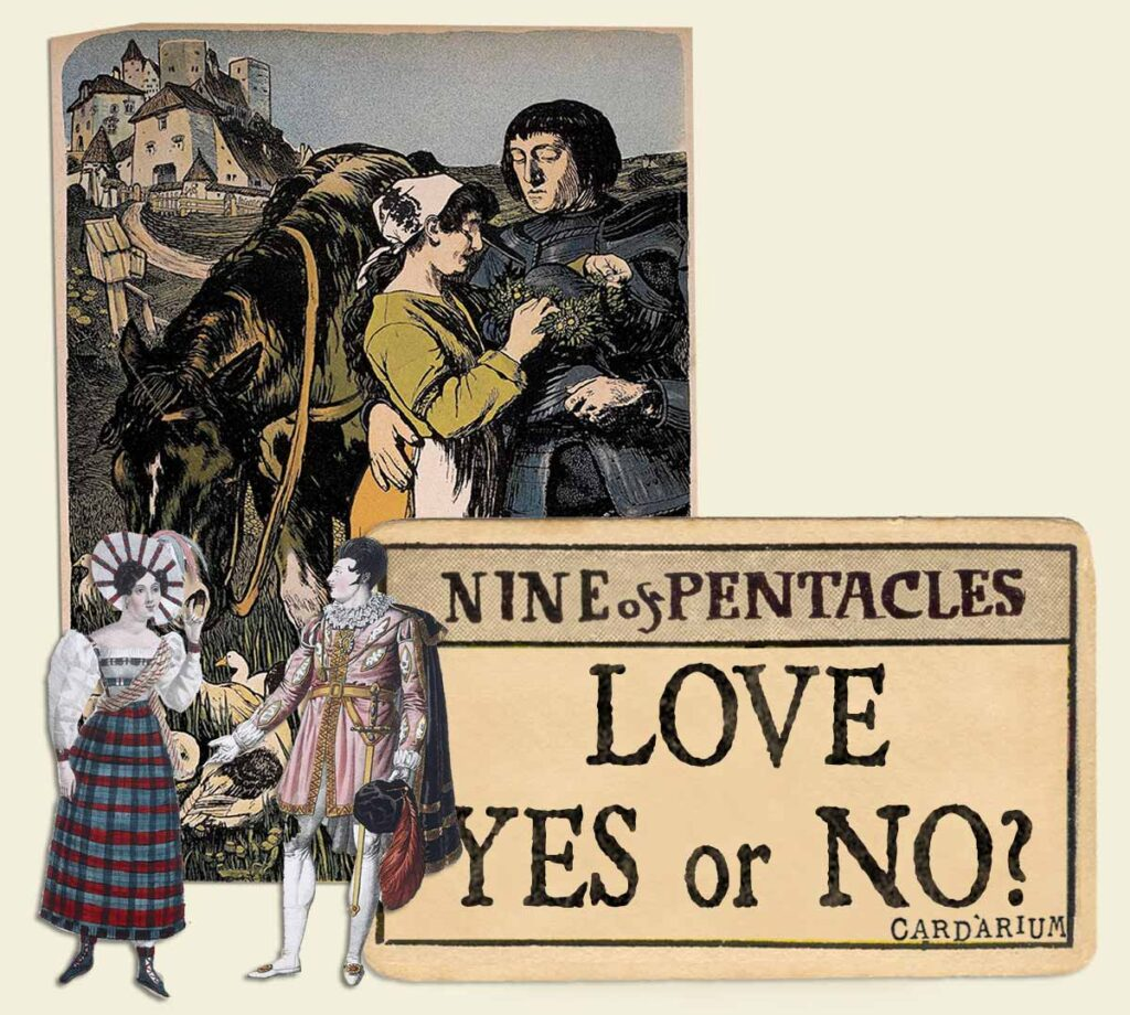 9 of pentacles tarot card meaning for love yes or no