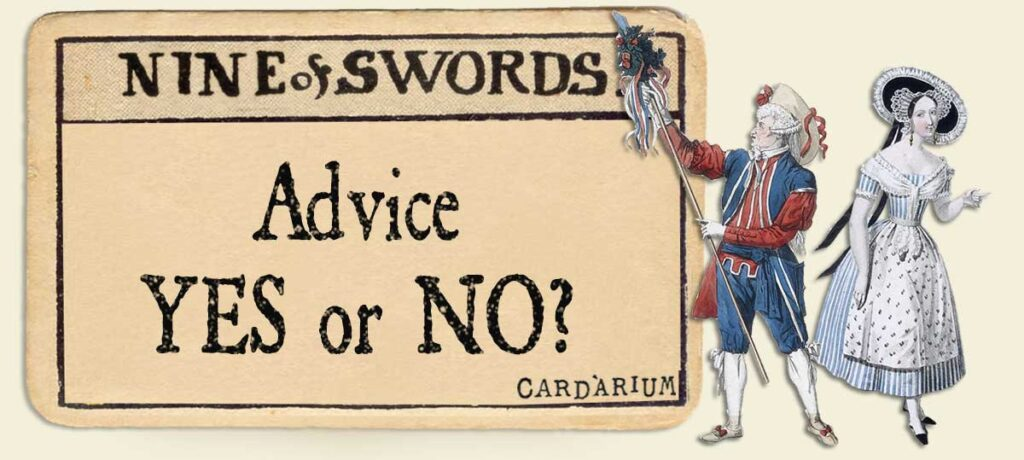 9 of swords Advice Yes or No