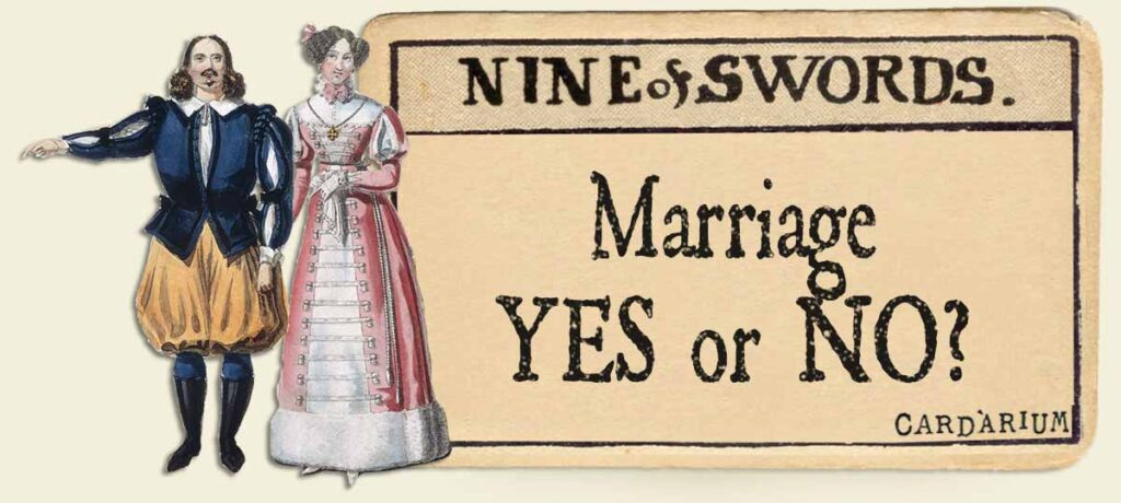 9 of swords marriage yes or no