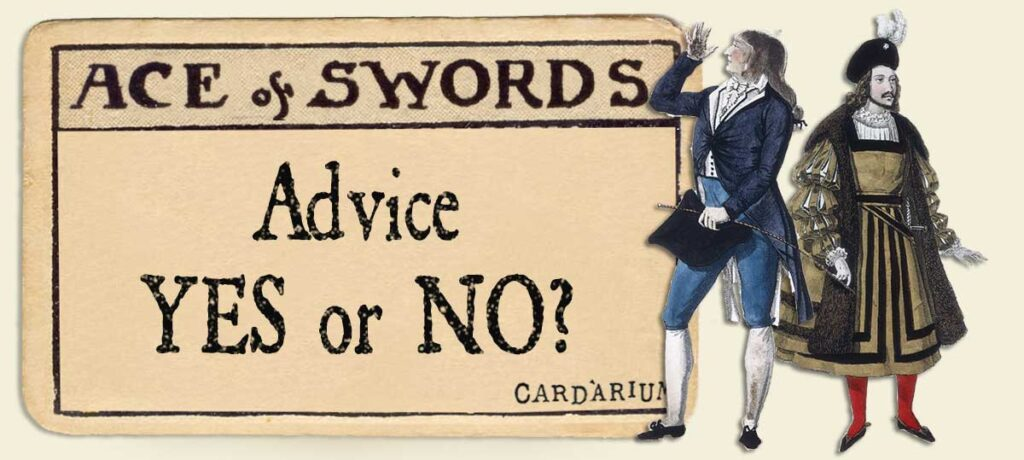 Ace of swords Advice Yes or No