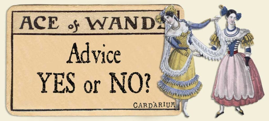 Ace of wands Advice Yes or No