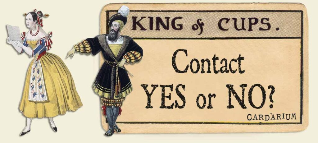 King of cups contact yes or no
