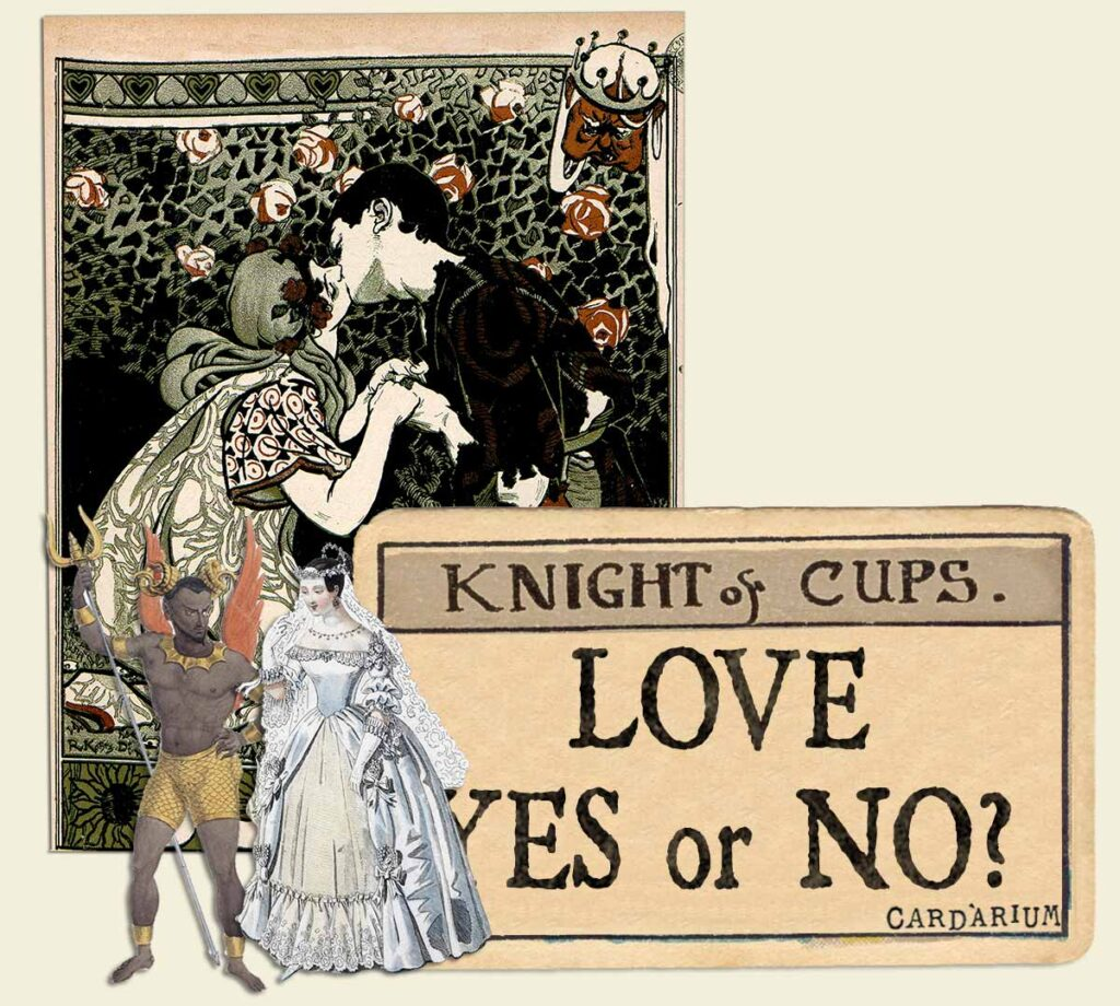 Knight of cups tarot card meaning for love yes or no