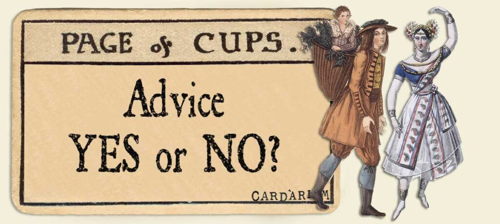 Page of cups Advice Yes or No