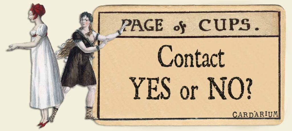 Page of cups contact yes or no