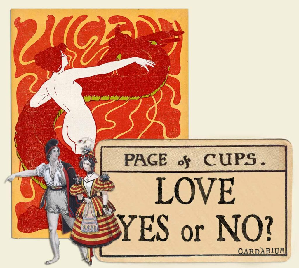 Page of cups tarot card meaning for love yes or no