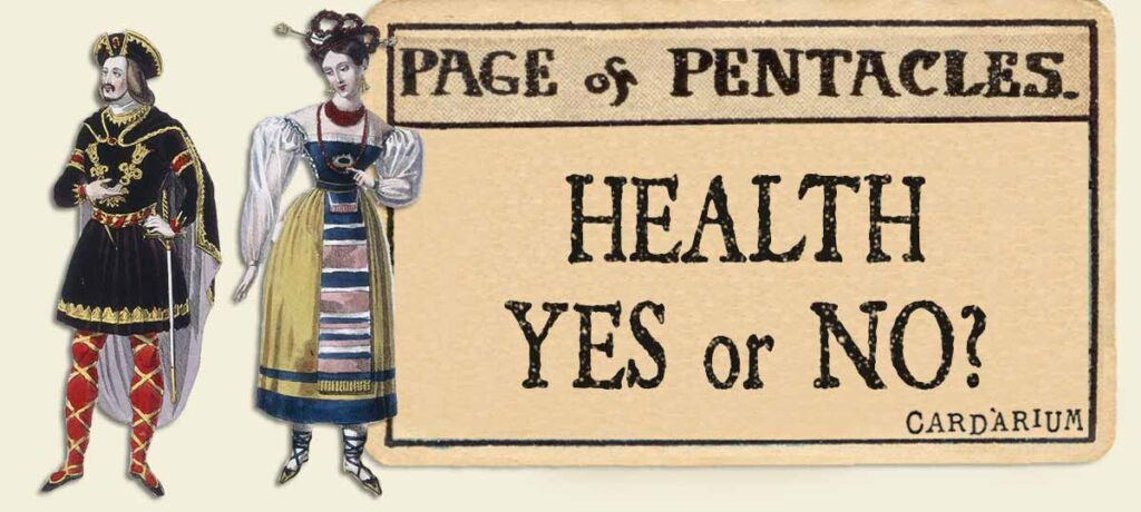Page of pentacles meaning for health yes or no
