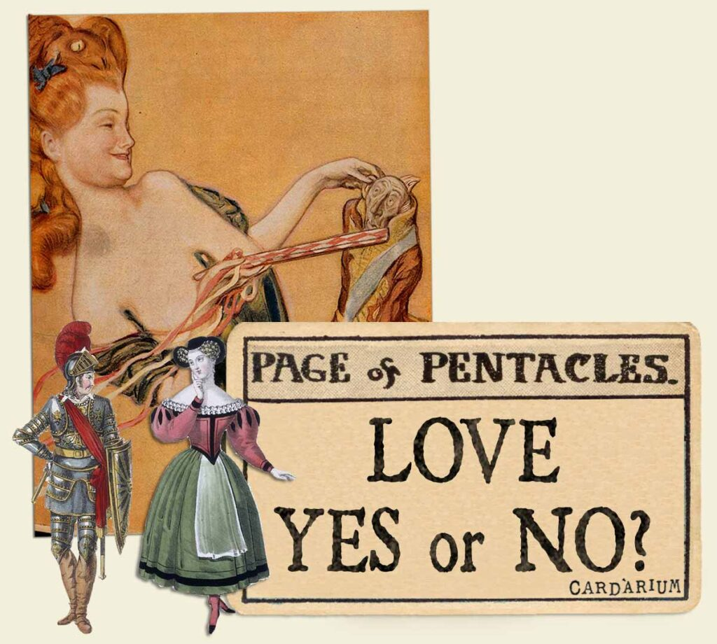Page of pentacles tarot card meaning for love yes or no