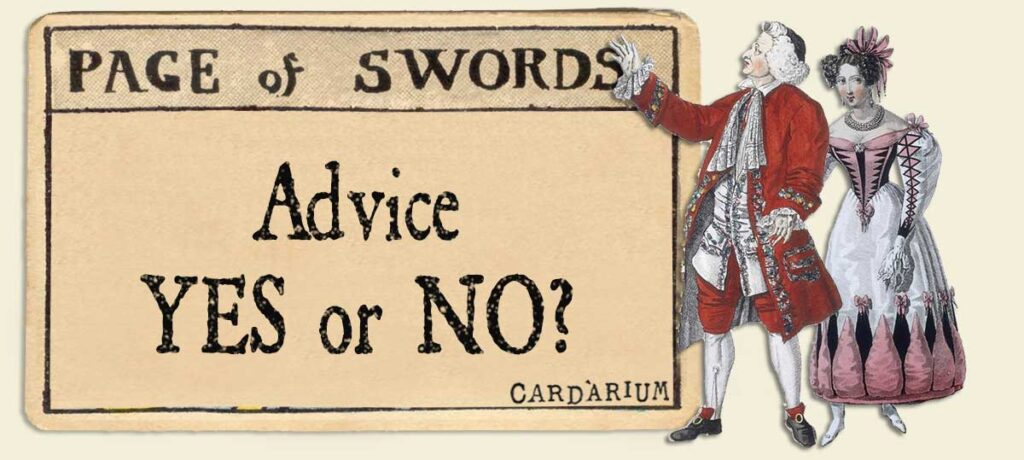 Page of swords Advice Yes or No