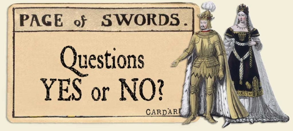 Page of swords Yes or No Questions