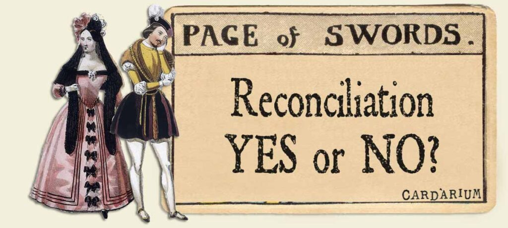 Page of swords reconciliation yes or no
