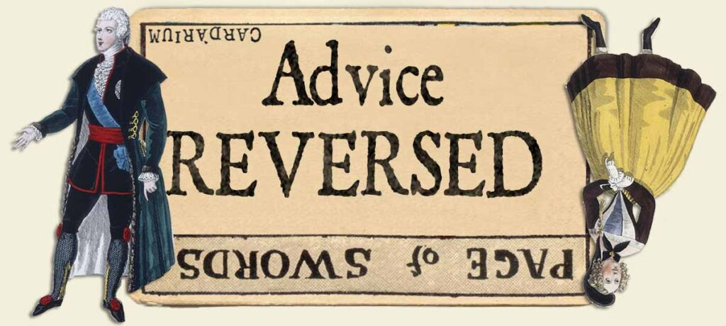 Page of swords reversed advice yes or no