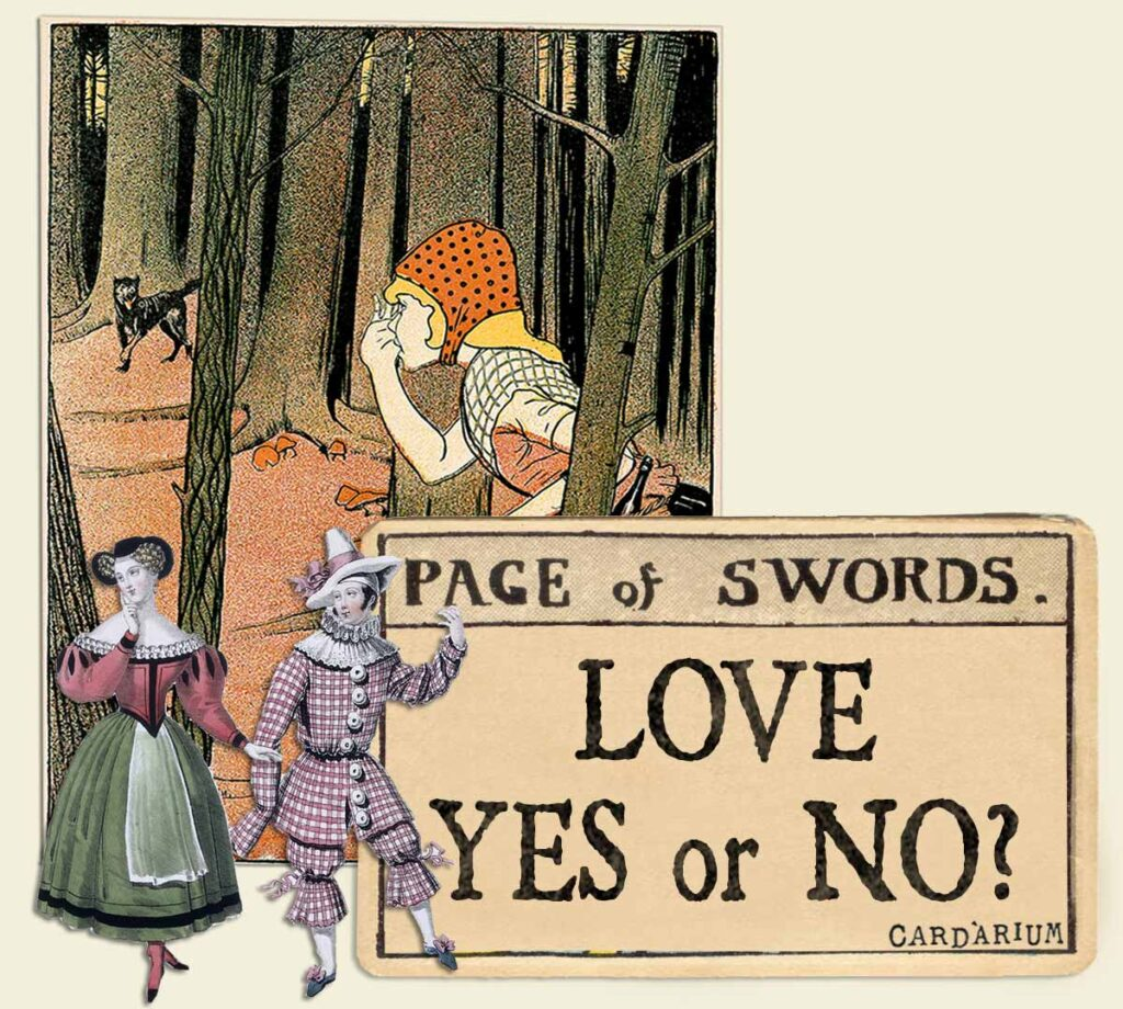 Page of swords tarot card meaning for love yes or no