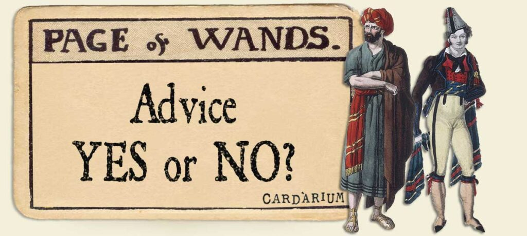 Page of wands Advice Yes or No