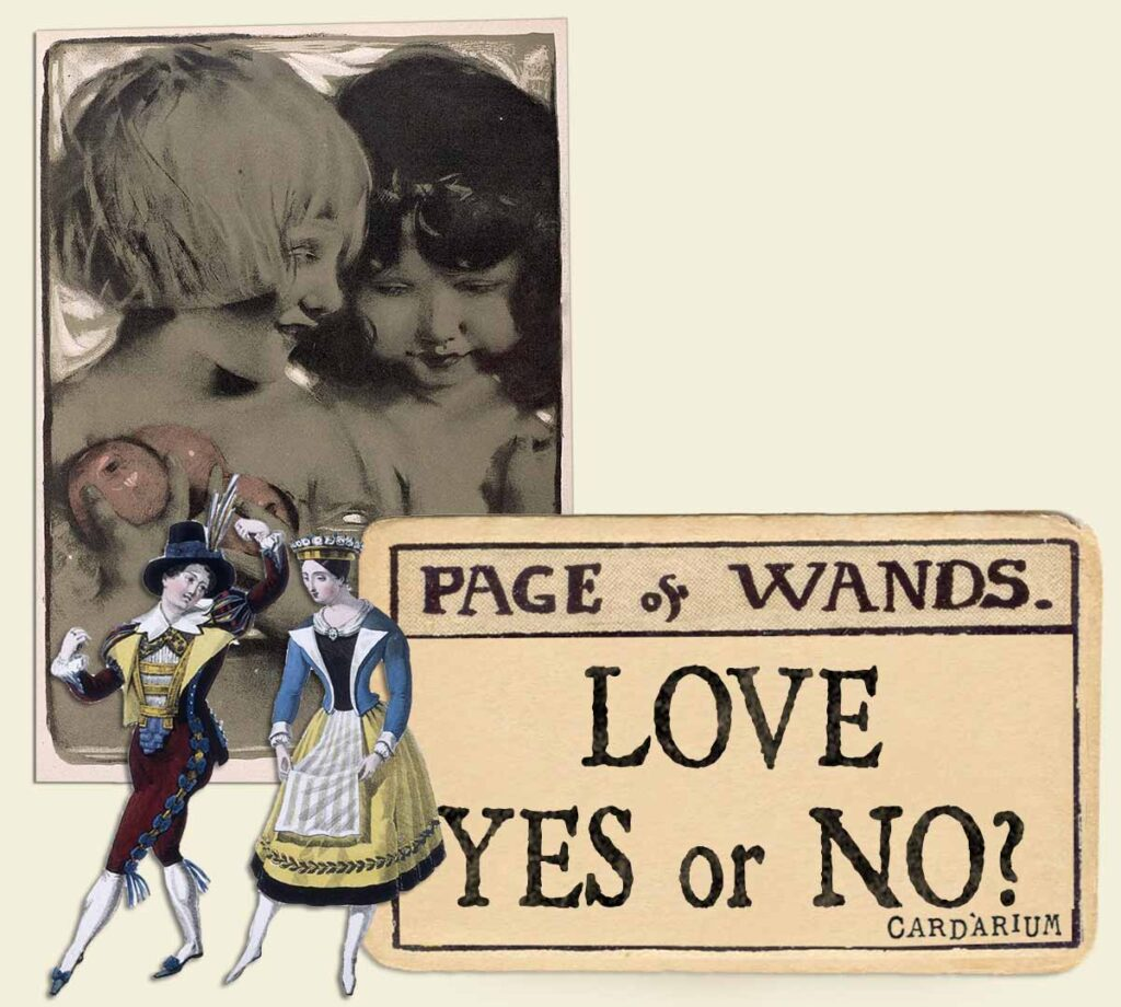 Page of wands tarot card meaning for love yes or no