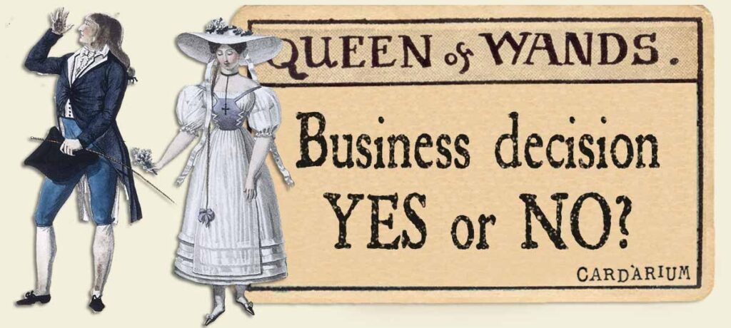 Queen of wands business decision yes or no