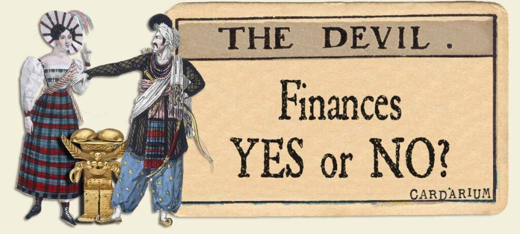 The Devil tarot card meaning for finances yes or no
