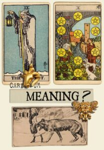 The Hermit and Ten Of Pentacles