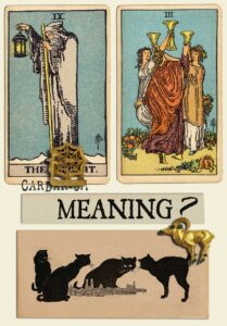 The Hermit and Three Of Cups