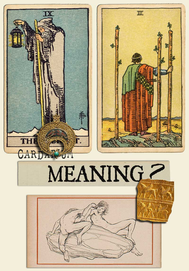 The Hermit and Three Of Wands