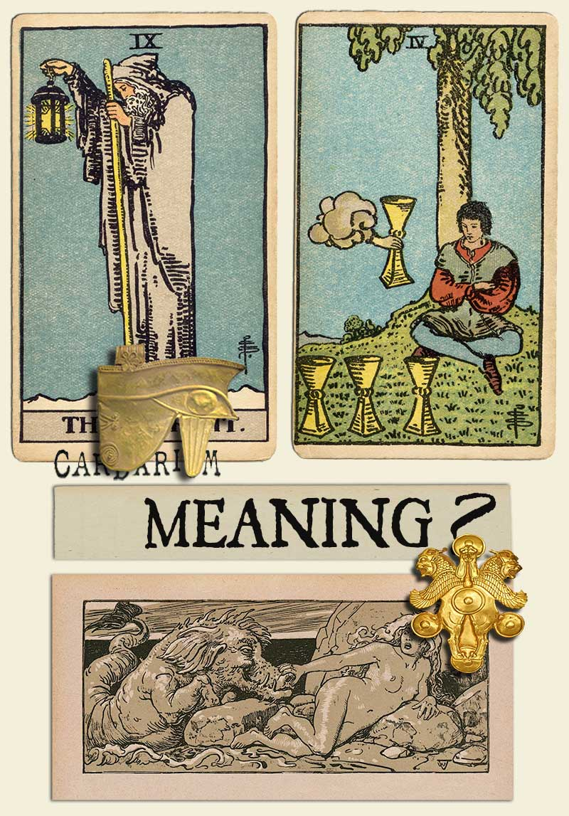 The Hermit and Four Of Cups