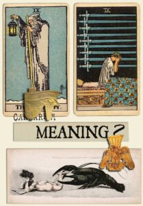 The Hermit and Nine Of Swords