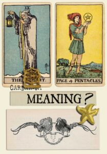 The Hermit and Page Of Pentacles