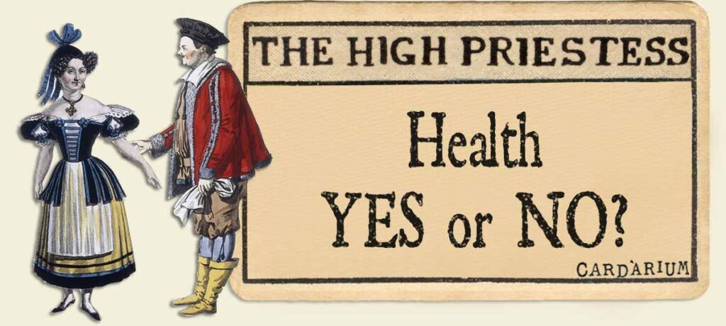 The High Priestess tarot card meaning health yes or no