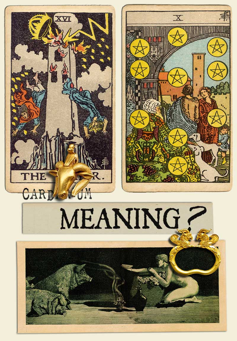 The Tower and Ten Of Pentacles