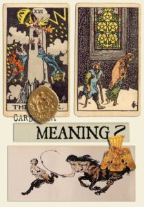 The Tower and Five Of Pentacles