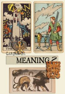 The Tower and Five Of Swords