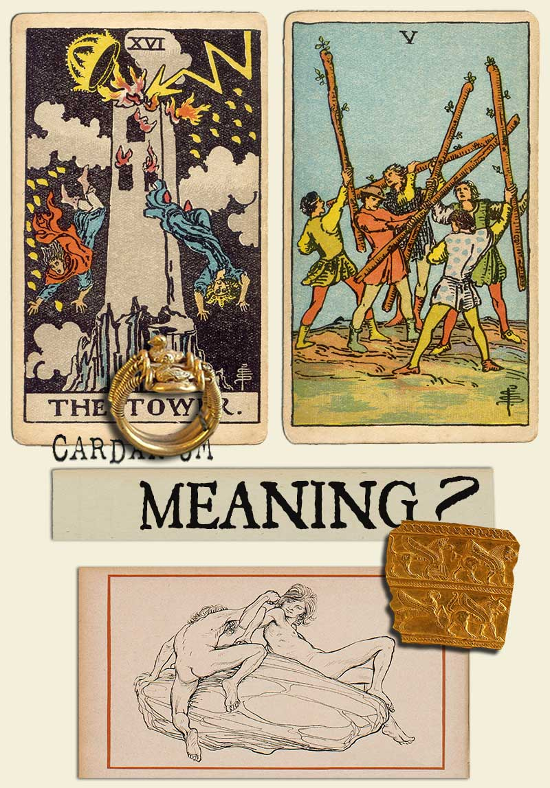The Tower and Five Of Wands
